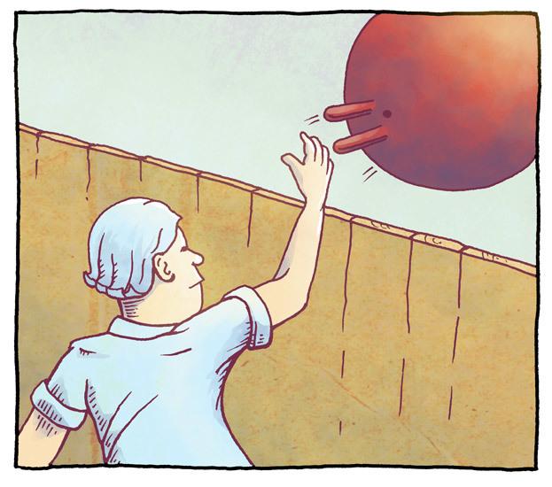 Ståle returnerer hoppeball 1