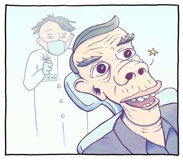 Gamle Telegrafens nesehår