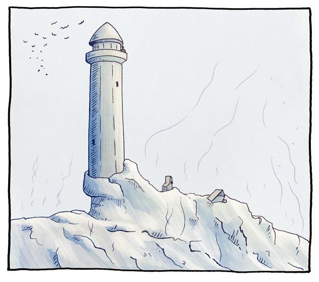 Backstabbing Knut på Dynga fyr