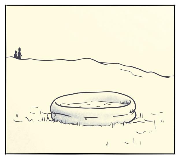 Årets siste bad
